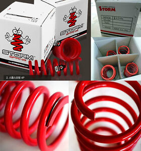 Storm Lower Coil Down Springs 4ea 1set For Hyundai Tuscani 2006 2008