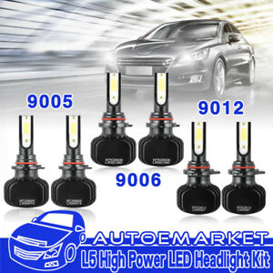 6x 9012 9005 9006 Led Headlights Fog Light For Ram 1500 2500 3500 2013 2014 2015