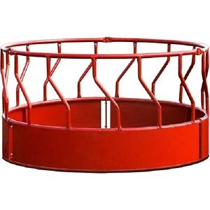 New Behlen Country Super Duty Bale Feeder With S bar 96 l X 96 w X 51 1 2 h red