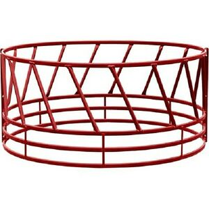 Heavy Duty Bale Feeder W Eight Diagonals Per Section 96 lx96 wx46 h Red