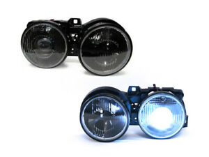 Euro Smiley Projector Crosshair Xenon Hid Headlight For 1984 91 Bmw E30 3 Series