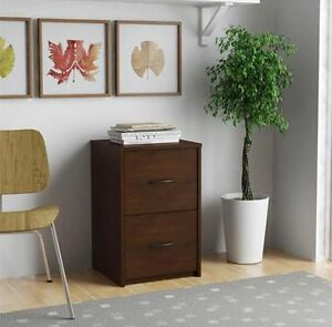 Cherry Faux Wood Filing Cabinet 2 Drawers Letter Storage Home Office Furniture