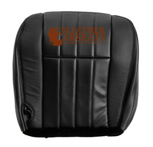2006 2007 Ford F250 Harley Davidson Driver Bottom Leather Seat Cover Black