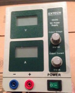 H126863 Extech Instruments 382202 Dc Power Supply 18v 3a untested