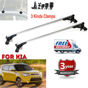For Kia Forte Optima Soul 06 17 Car Top Bar Aluminum Crossbar Rack Cargo Luggage