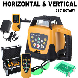 Green Laser Level 360 Rotary Laser Line Self Leveling Remote Control W Case