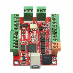 4 axis Cnc Usb Card Mach3 100khz Breakout Board Driver Motion Controller Us