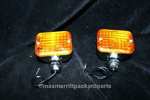 Front Turn Signals Hot Rod Rat Rod Motorcycle Pair