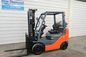 2012 Toyota 8fgcu25 5 000 Cushion Tire Forklift Triple 4 Way Hyd S s Lps
