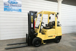 Hyster S80xm 8 000 L p Cushion Tire Forklift Triple Sideshift Very Low Hr