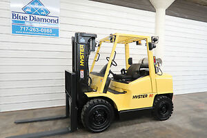 Hyster H90xms 9 000 Solid Pneumatic Tire Forklift Triple S s Low Hours