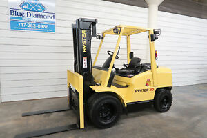 Hyster H80xm 8 000 Diesel Pneumatic Tire Forklift Three Stage Sideshift