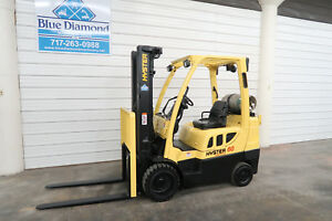 2006 Hyster S60ft 6 000 Lp Gas Cushion Tire Forklift Triple Sideshift