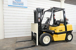 Yale Glp080 8 000 Pneumatic Tire Forklift Lp Gas 3 Stage H90xm H80xm Glp090