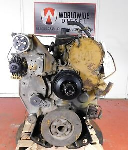 2005 Cat C15 Diesel Engine Take Out Turns 360 Good For Rebuild Only