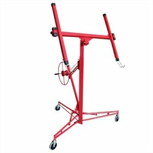 Drywall 11 Lift Panel Hoist Dry Wall Jack Lifter Construction Tools Large Red