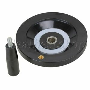 160mm Dia Lathe Milling Machine Rear Ripple Hand Wheel With Revolving Handle