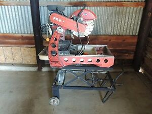 Pr Diamond Masonry Brick Wet Saw W Stand