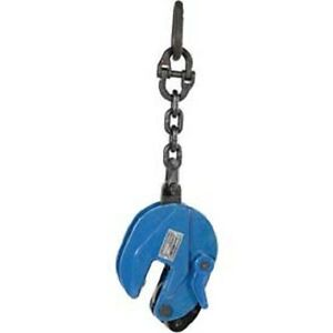 New Vestil Vertical Plate Clamp W Chain Lifting Attachment 2000 Lb Capacity