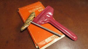 Vintage Mitutoyo Telescoping Gage In Original Box 155 125 Never Used With Case
