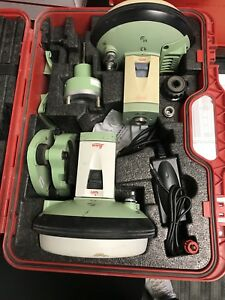Leica Gs15 Rtk Gps Glonass One Pair With Cs15 Dc With Hard Case And Accessories