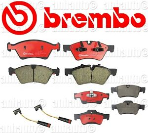 Brembo Front Rear Brake Pads Ceramic With Sensors Mercedes Gl Ml R