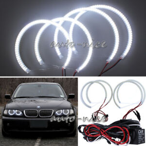 4x131mm 146mm Angel Eyes Halo Rings For Bmw E46 3 Series Non projector Headlight