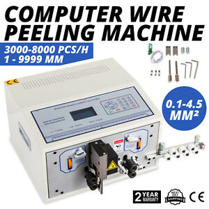 Automatic Computer Wire Stripping Cutting Peeling Machine Stripper 0 1 4 5mm Ce