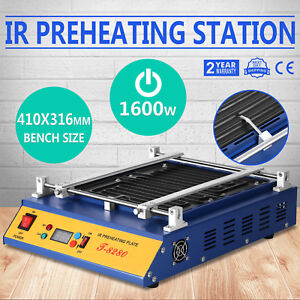 T 8280 Ir Pcb Preheater Infrared Preheating Oven Station 280x270mm 1600w