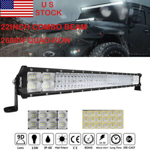 22 Inch 1080w Cree Led Work Light Bar Fog Combo Dual Color Offroad Truck 20 23