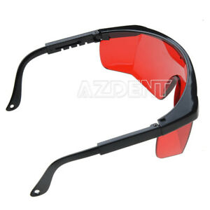 10 Kits Dental Curing Light Whitening Lab Safety Protective Goggle Glasses Red
