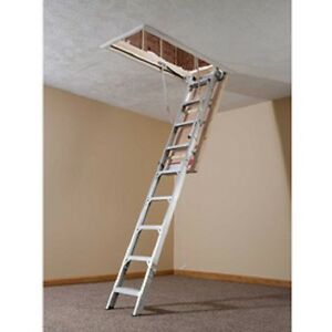 New Werner Aluminum Energy Seal Attic Ladder 22 1 2 w X 8 10
