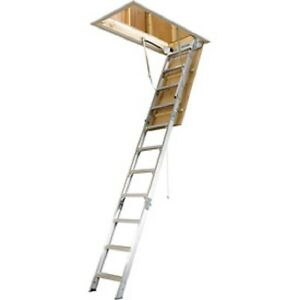 New Werner Aluminum Attic Ladder 22 1 2 w X 8 10