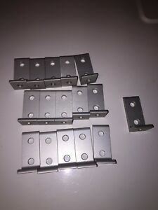 80 20 Inc 3 Hole Angle T Slot Bracket 10 Series Extrusion Lot Of 16 New 8020