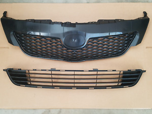 2pc Set 2009 2010 Toyota Corolla Front Bumper Upper Lower Grille New Pair