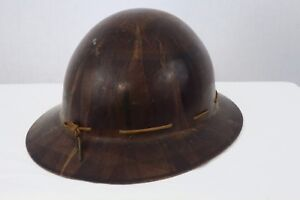 Vtg Fiberglass Roughneck Hard Hat Linemans Safety Msa Skull Gard Type K Helmet