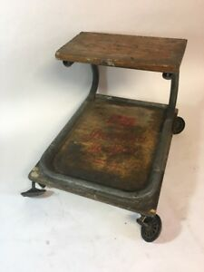 Vintage Lisle Model W Jeepers Lo boy Wood Automotive Roller Seat Chair Creeper
