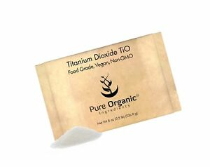 Titanium Dioxide Tio2 8 Oz By Pure Organic Ingredients Eco friendly Packa