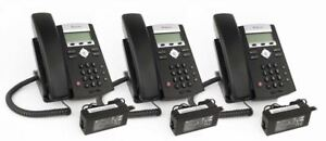 lot Of 3 Polycom 2200 12375 001 Soundpoint Ip 335 Hd Corded Voip Phone