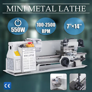 7 X 14 mini Metal Lathe Machine 550w Variable Speed 0 2500 Rpm Dc Motor Driven