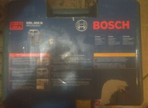 Bosch Grl 400 H 400m Outdoor Rotary Red Laser With Lr1 Receiver