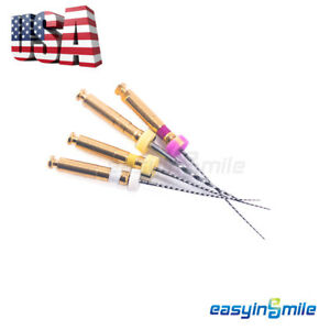 4pcs Easyinsmile Endodontic X path Rotary Niti Endo Files For Root Canal Motor