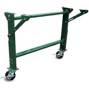 Castered H stand W knee For 36 Bf Roller Conveyors Adjustable 23 To 32 3 4 h