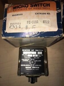 Micro Switch Fe sw8a Sincos Ac Switch 3 Amp 130v New Surplus In Box