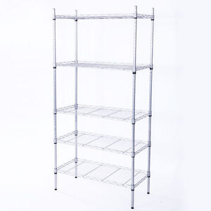 5 Layer Wire Metal Unit Commercial Heavy Duty Storage Shelf Shelving Rack