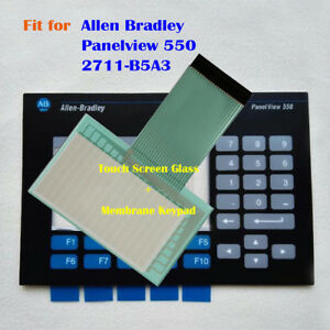 Touch Screen Glass Membrane Keypad For Allen Bradley Panelview 550 2711 b5a3
