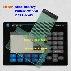Touch Screen Glass Membrane Keypad For Allen Bradley Panelview 550 2711 k5a8