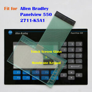 Touch Screen Glass Membrane Keypad For Allen Bradley Panelview 550 2711 k5a1