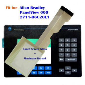 Touch Screen Glass membrane Keypad For Allen Bradley Panelview 600 2711 b6c20l1