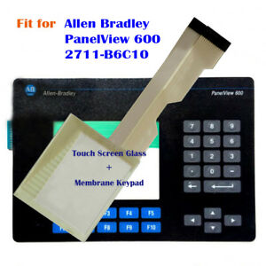 Touch Screen Glass Membrane Keypad For Allen Bradley Panelview 600 2711 b6c10